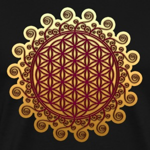 FLOWER OF LIFE, SPIRITUAL, SACRED GEOMETRY, YOGA T-Shirts - Men's Premium T-Shirt