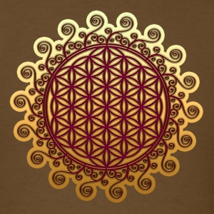 FLOWER OF LIFE, SPIRITUAL, SACRED GEOMETRY, YOGA T-Shirts - Men's T-Shirt