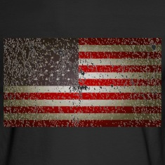 US Flag distressed Long Sleeve Shirts