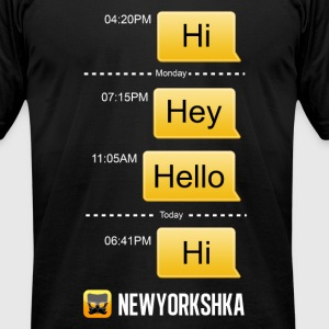 Hi Hello - Men's T-Shirt by American Apparel