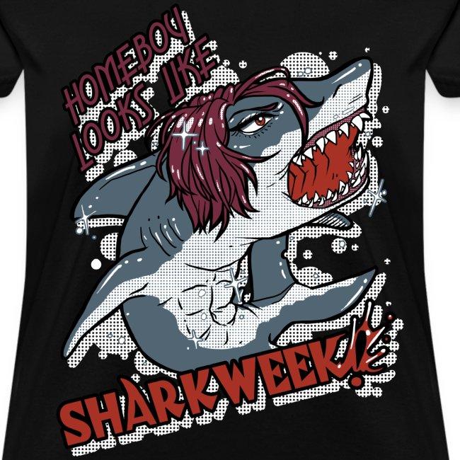 Ladies Shark Week BLACK