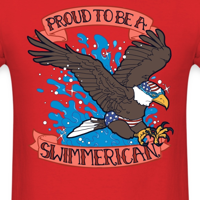 Proud To Be A Swimmerican RED