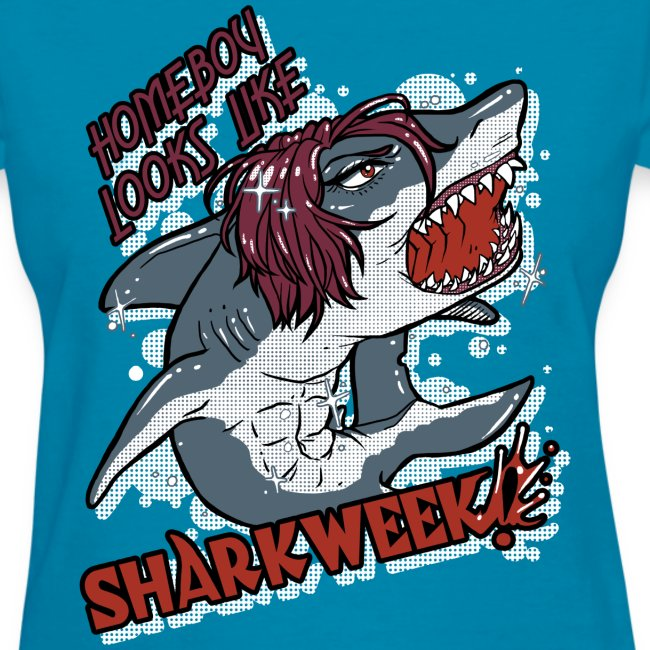 Ladies Shark Week BLUE