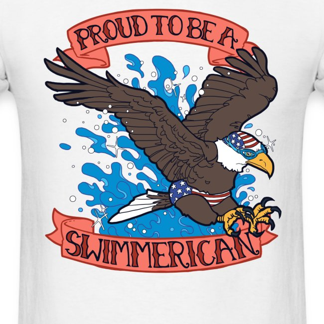 Proud To Be A Swimmerican WHITE