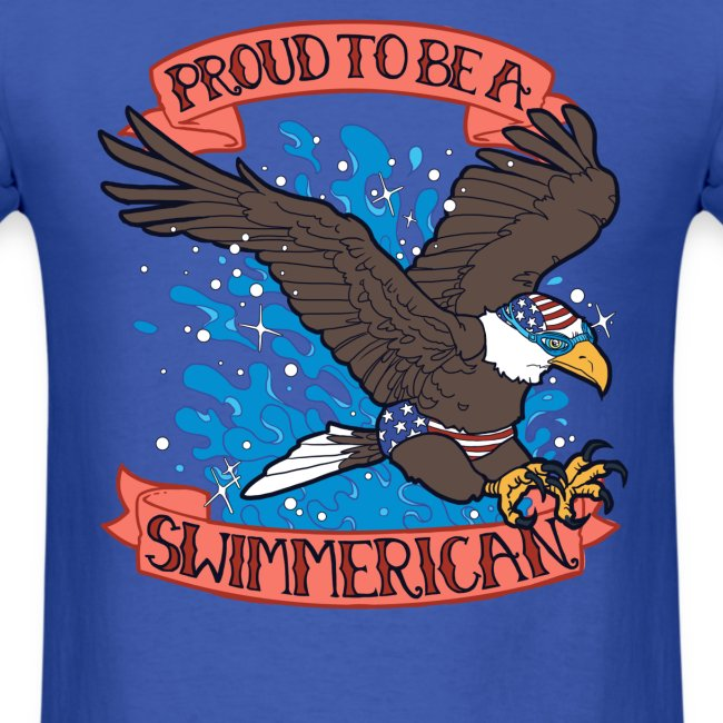 Proud To Be A Swimmerican BLUE