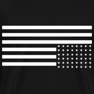 Upside Down US Flag T-Shirt - Men's Premium T-Shirt