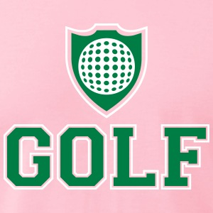 Golf and shield T-Shirts - Men's T-Shirt by American Apparel