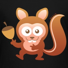 Smiling Little Squirrel Kids' Shirts