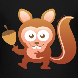 Smiling Little Squirrel Kids' Shirts - Kids' Premium T-Shirt