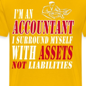 Accountant with assets T-Shirts - Men's Premium T-Shirt