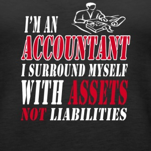 Accountant with assets Tanks - Women's Premium Tank Top