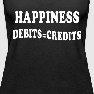 Accounting Debits=Credits Tanks - Women's Premium Tank Top