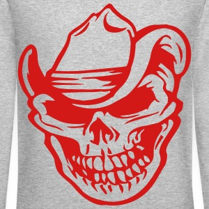 cowboy skull Long Sleeve Shirts - Crewneck Sweatshirt