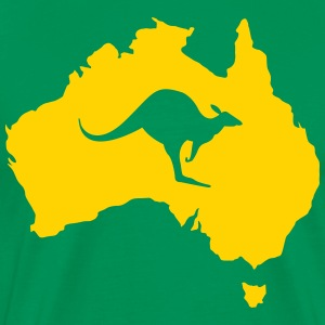 Australia with kangaroo Shirt - Men's Premium T-Shirt