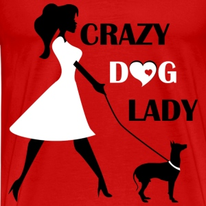 Unique Crazy dog lady T-Shirt - Men's Premium T-Shirt