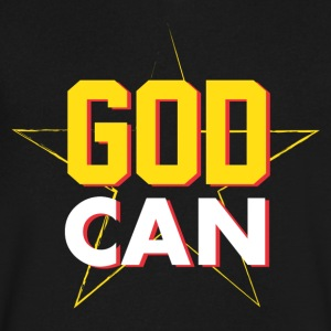 Men > T-Shirts GOD CAN - Men's V-Neck T-Shirt by Canvas