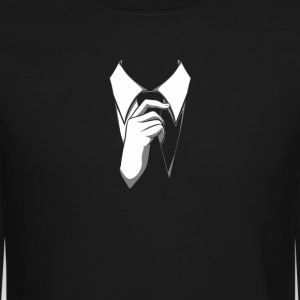 Anonymous Tie Long Sleeve Shirts - Crewneck Sweatshirt