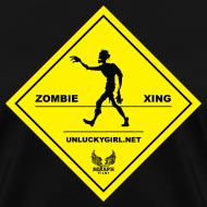 Design ~ Zombie Crossing (Unlucky Girl) Women's T-SHirt