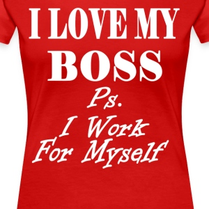 I am the Boss Women's T-Shirts - Women's Premium T-Shirt