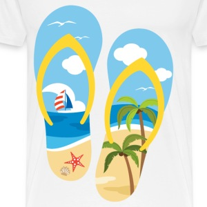 beach shoes - Men's Premium T-Shirt