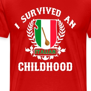 Italian Childhood T-Shirts - Men's Premium T-Shirt