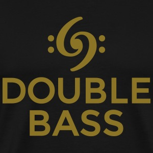Double Bass T-Shirt (Gold) - Men's Premium T-Shirt