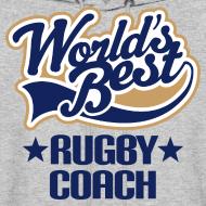 Design ~ Rugby Coach Mens Hoodie (Worlds Best)