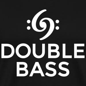 Double Bass T-Shirt (White) - Men's Premium T-Shirt