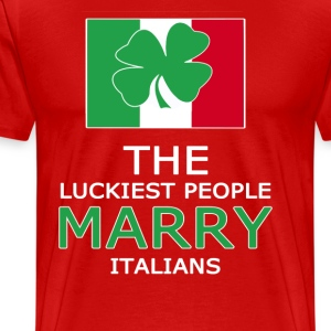 Lucky ones marry Italians T-Shirts - Men's Premium T-Shirt