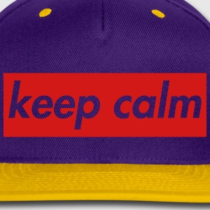 keep calm Caps - Snap-back Baseball Cap