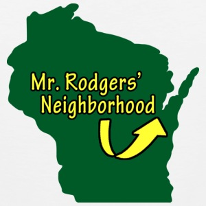 Mr. Neighborhood Wisconsin Football Tank Tops - Men's Premium Tank