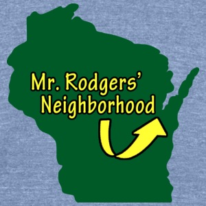 Mr. Neighborhood Wisconsin Football T-Shirts - Unisex Tri-Blend T-Shirt by American Apparel