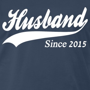 Husband Since 2015 T-Shirts - Men's Premium T-Shirt