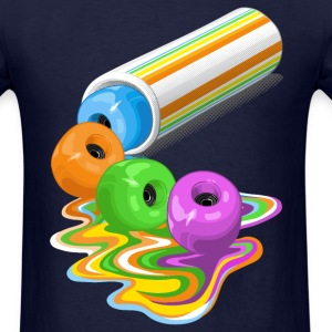 Melting skateboard wheels - Men's T-Shirt