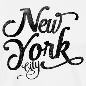 New York City vintage typography - black T-Shirts - Men's Premium T-Shirt