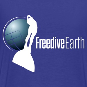 Our Freedive-Earth Tee shirt, logo in the back - Men's Premium T-Shirt