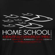 Design ~ HOME SCHOOL (Multicolor on Black) Version 1