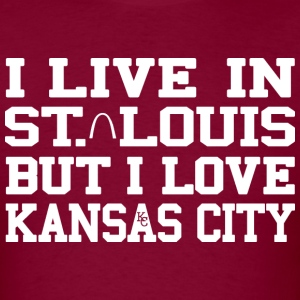 Live St. Louis Love Kansas City T-Shirts - Men's T-Shirt
