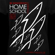 Design ~ HOME SCHOOL (Multicolor on Black Women's V-Neck) Version 2