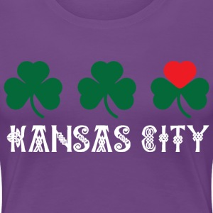 Kansas City Shamrock Heart Women's T-Shirts - Women's Premium T-Shirt