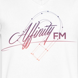 Affinity FM V-Neck Logo w/ Color - Men's V-Neck T-Shirt by Canvas