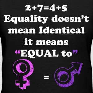 It Means Equal - Women's V-Neck T-Shirt
