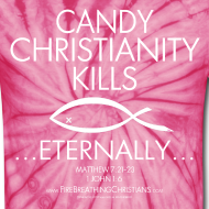 Design ~ CANDY CHRISTIANITY KILLS (White on Red Tie Dye) Version 1