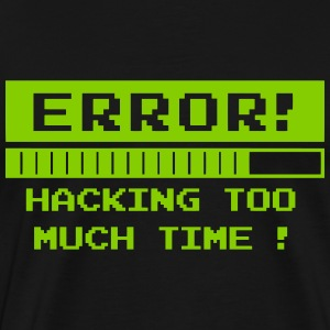 time hack error T-Shirts - Men's Premium T-Shirt