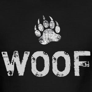 Gay Bear Pride distressed Bear Paw WOOF - Men's Ringer T-Shirt