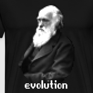 Darwin Evolution Pixels - Men's Premium T-Shirt