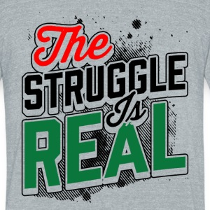 RBG Struggle is Real T-Shirt T-Shirts - Unisex Tri-Blend T-Shirt by American Apparel