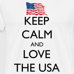 Keep Calm and Love the USA - Men's Premium T-Shirt