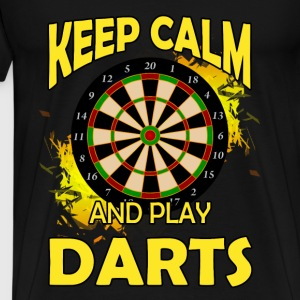 Darts T-shirt - Keep calm and play darts - Men's Premium T-Shirt