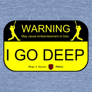 Unisex Deep Warning Athletic Tee Made in the U.S.A - Unisex Tri-Blend T-Shirt by American Apparel
